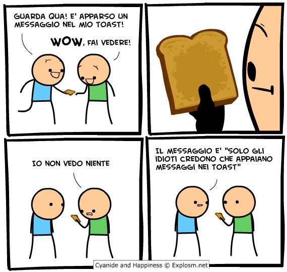 Messaggio nel toast